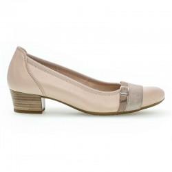 Bēšas sieviešu kurpes uz zema papēža Gabor 42.203.21