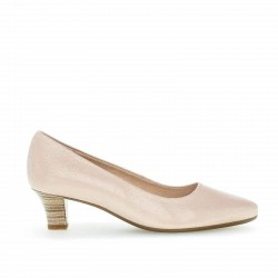 Classic women's nude shoes on a small heel Gabor 42.130.21