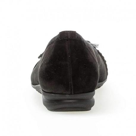 Melnas nubuka baletkurpes - zempapēžu kurpes Gabor 42.625.37