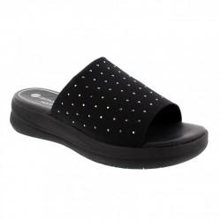 Womens black slide flip flops Remonte D4253-02