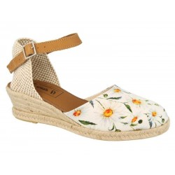 Wide fit wedge slingback sandals DB Shoes 78686W 4E