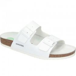 Men's white slide flip flops Dr Brinkmann 603141