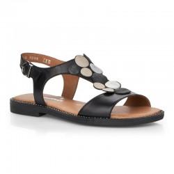 Melnas sieviešu sandales Remonte D3655-01