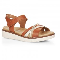 Brown sandals for women Remonte D2058-24