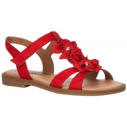Women's big size red sandals Remonte D3658-33