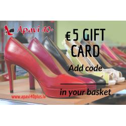 Elektroninė dovanų kortelė 5